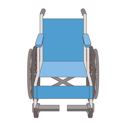 車椅子(車椅子・電動車椅子/福祉用具)のイラスト