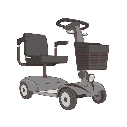 電動車椅子(車椅子・電動車椅子/福祉用具)のイラスト