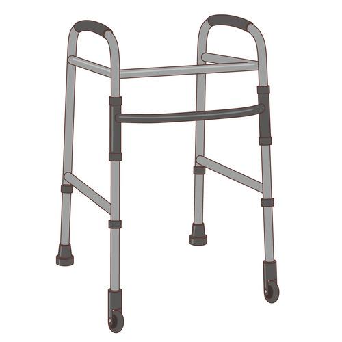 歩行器(杖・歩行器・手すり/福祉用具)のイラスト
