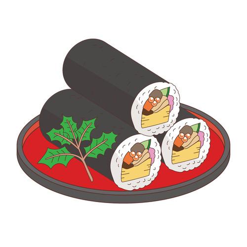 恵方巻(季節・行事/その他一般・装飾)のイラスト