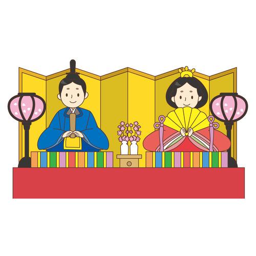 ひな人形(季節・行事/その他一般・装飾)のイラスト