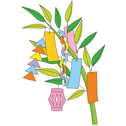 七夕飾り(季節・行事/その他一般・装飾)のイラスト