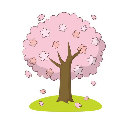 桜の木(季節・行事/その他一般・装飾)のイラスト