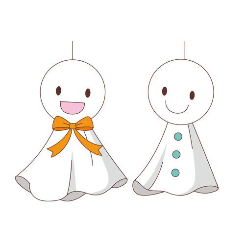 てるてる坊主(季節・行事/その他一般・装飾)のイラスト