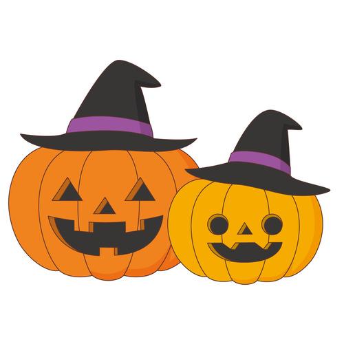 ハロウィンのかぼちゃ(季節・行事/その他一般・装飾)のイラスト