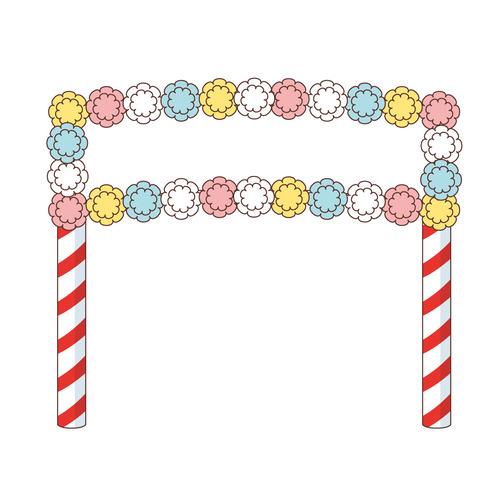 運動会の入場門(季節・行事/その他一般・装飾)のイラスト