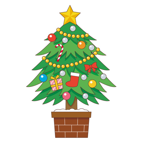 クリスマスツリー(季節・行事/その他一般・装飾)のイラスト