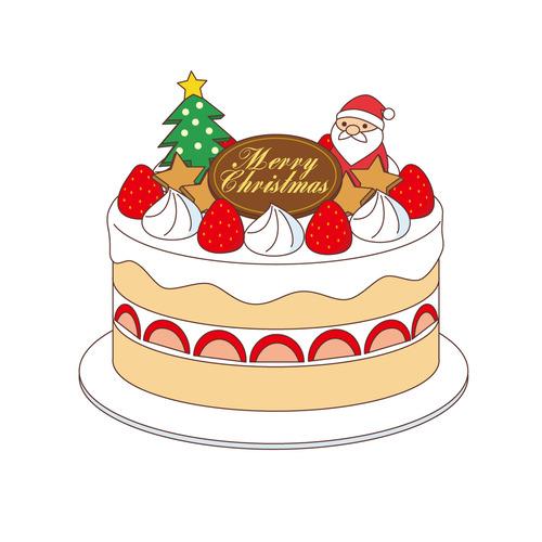 クリスマスケーキ(季節・行事/その他一般・装飾)のイラスト