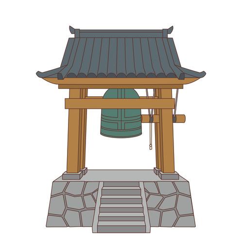 除夜の鐘(季節・行事/その他一般・装飾)のイラスト