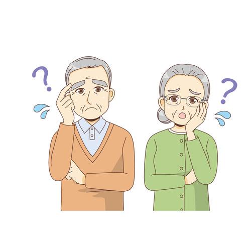 物忘れ(認知症・物忘れ/医療・病気)のイラスト