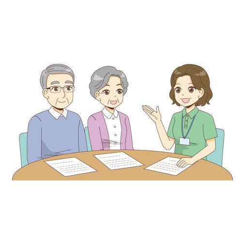 介護の相談(医療・福祉/医療・病気)のイラスト