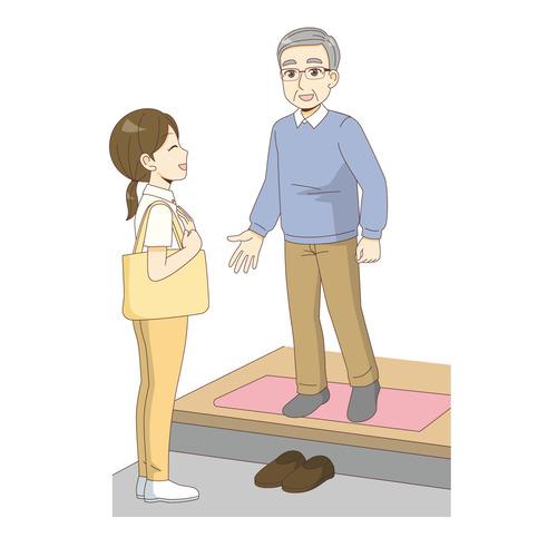 訪問介護サービス(訪問介護・訪問看護/施設・サービス)のイラスト