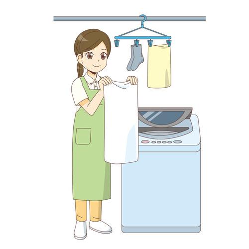 訪問介護サービスでの洗濯(訪問介護・訪問看護/施設・サービス)のイラスト
