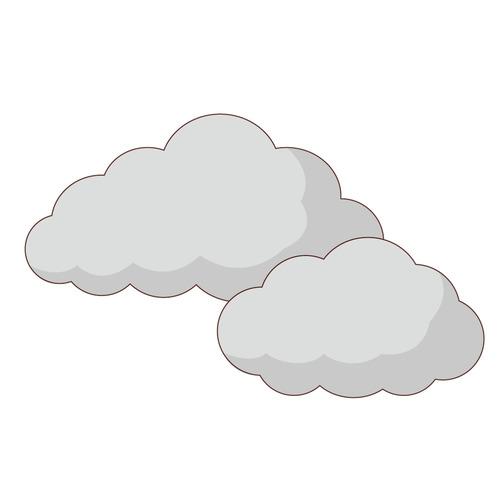 曇り(天気/その他一般・装飾)のイラスト
