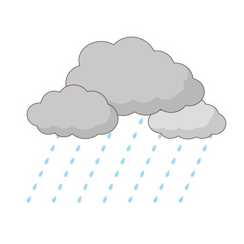 雨(天気/その他一般・装飾)のイラスト