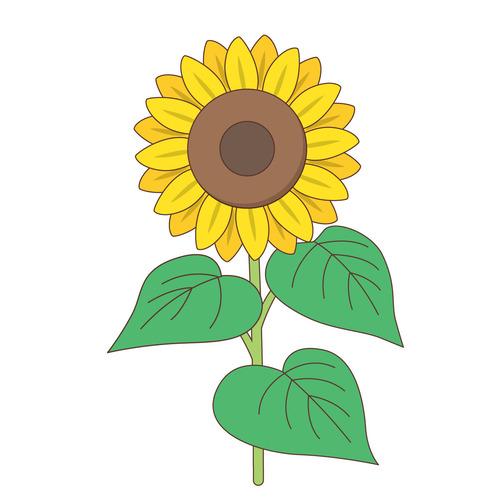 ひまわり(お花/その他一般・装飾)のイラスト