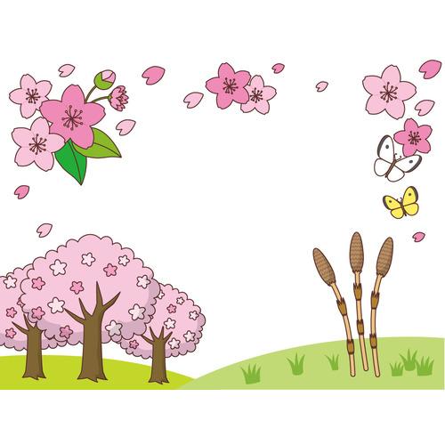 春のフレーム(お便り・お便りフレーム/フレーム・テンプレート)のイラスト