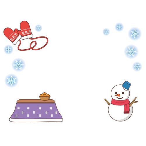 冬のフレーム(お便り・お便りフレーム/フレーム・テンプレート)のイラスト