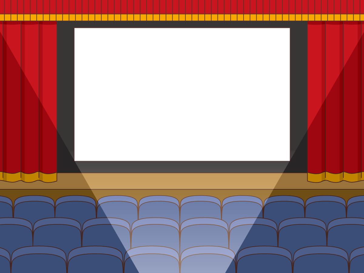 映画館のスクリーンと客席(季節・行事/その他一般・装飾)の無料 ...