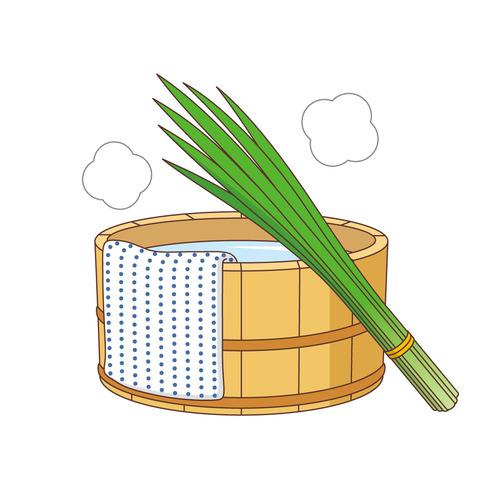 端午の節句のしょうぶ湯(季節・行事/その他一般・装飾)のイラスト