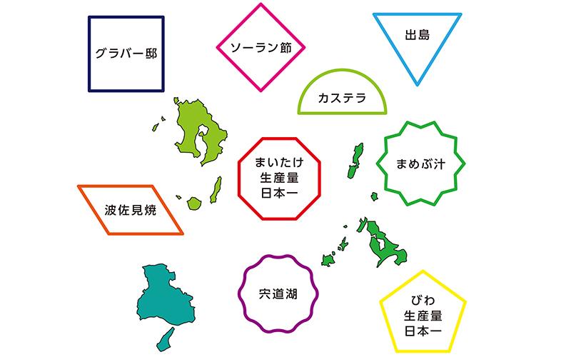 長崎県の脳トレ・クイズ - No.00336(高齢者向け脳トレ・クイズの介護レク素材)